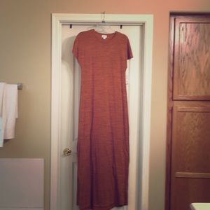 LuLaRoe Maria Maxi Dress Small orangy NWT